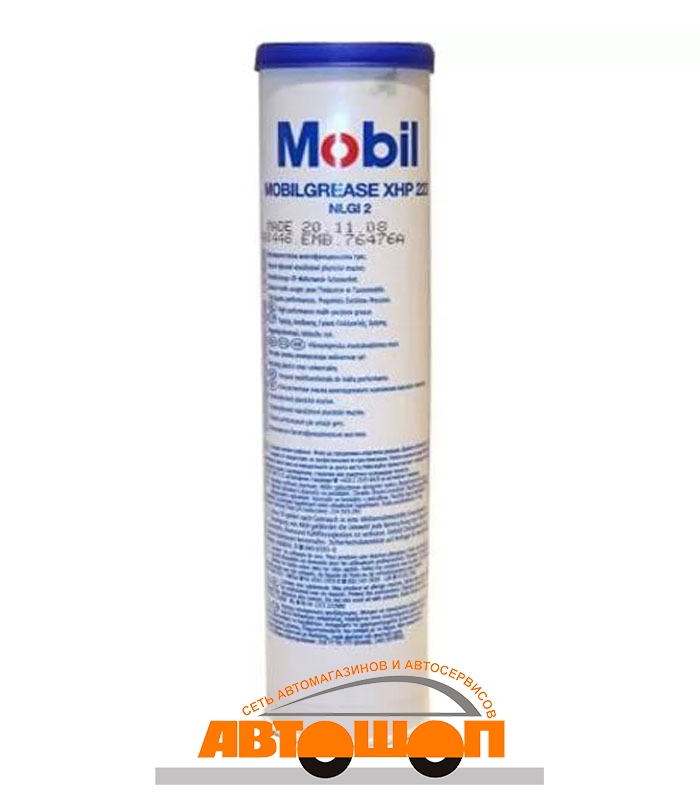 Mobil Mobilgrease XHP 222 (NLGI-2/ISO VG220), 0.39 кг Смазка пластичная ; 153553